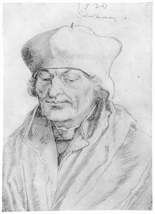 Porträt des Erasmus von Rotterdam