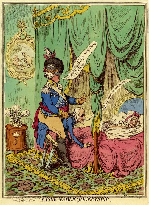Gillray, James: Zeitgemässe Reitkunst
