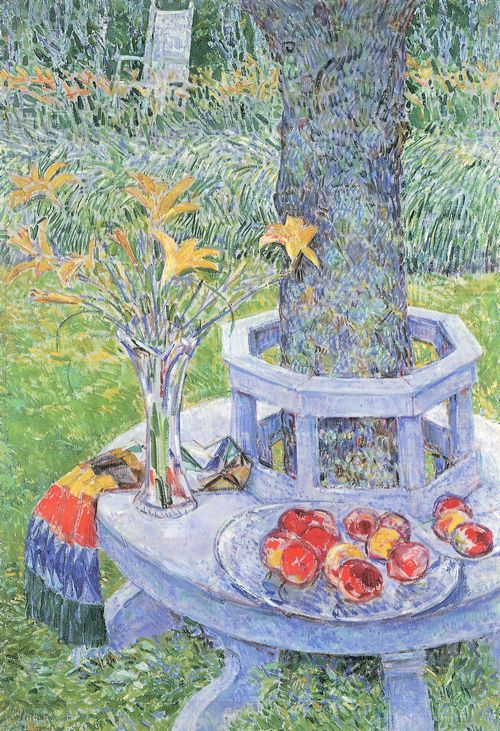 Hassam, Childe: Mrs. Hassams Garten in East Hampton