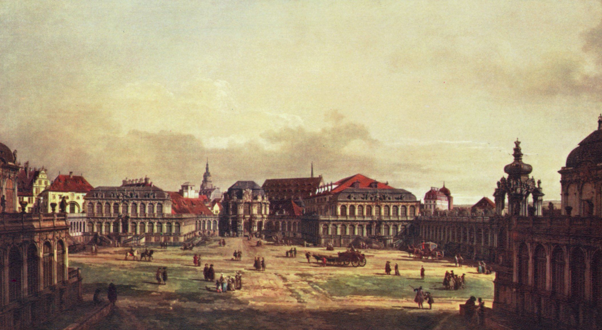 Canaletto ii ansicht von dresden zwingerhof in dresden - Gartenanlagen bilder ...