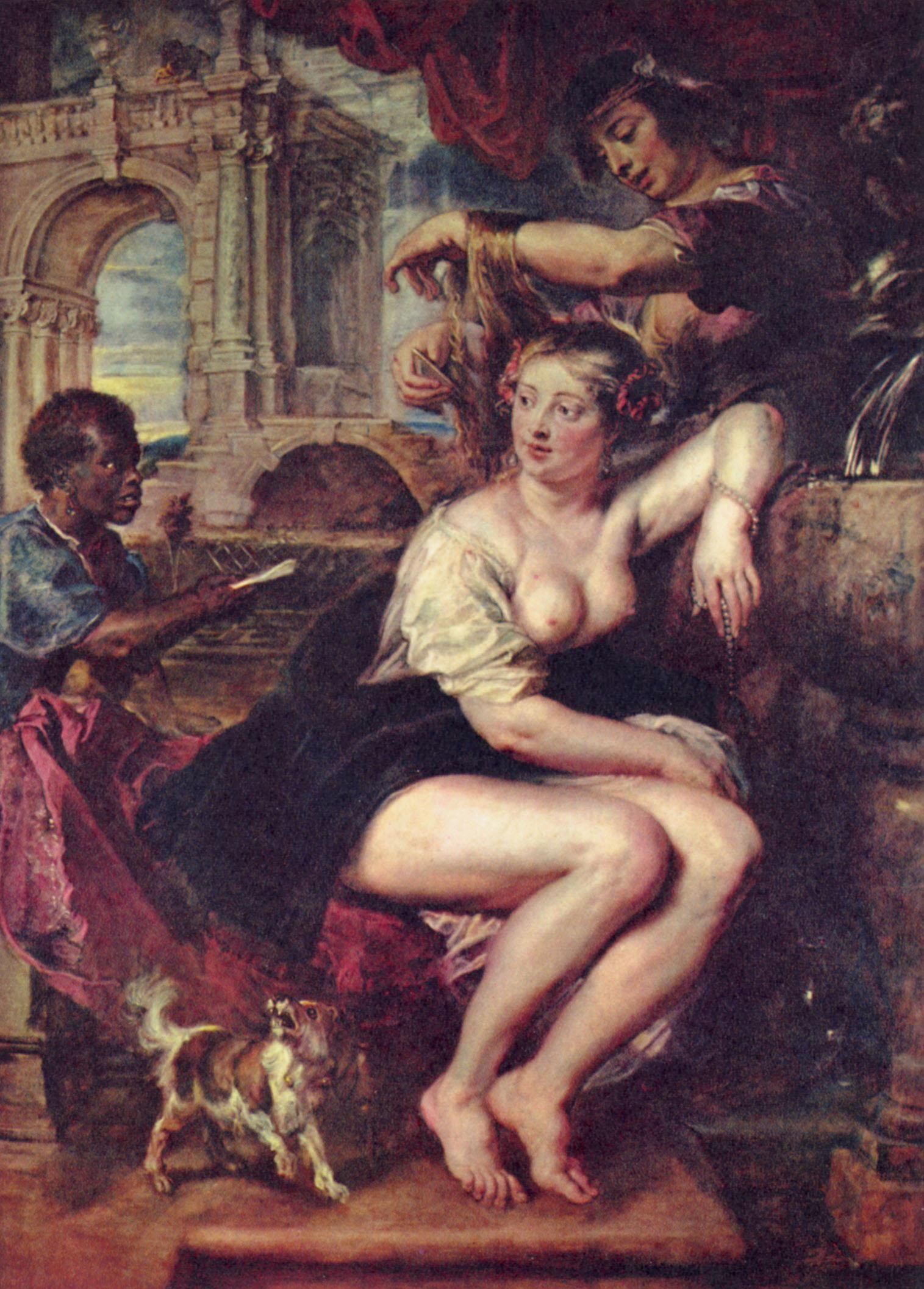 Давид, ависага и вирсавия (справа): ну прости, дорогая, забыл