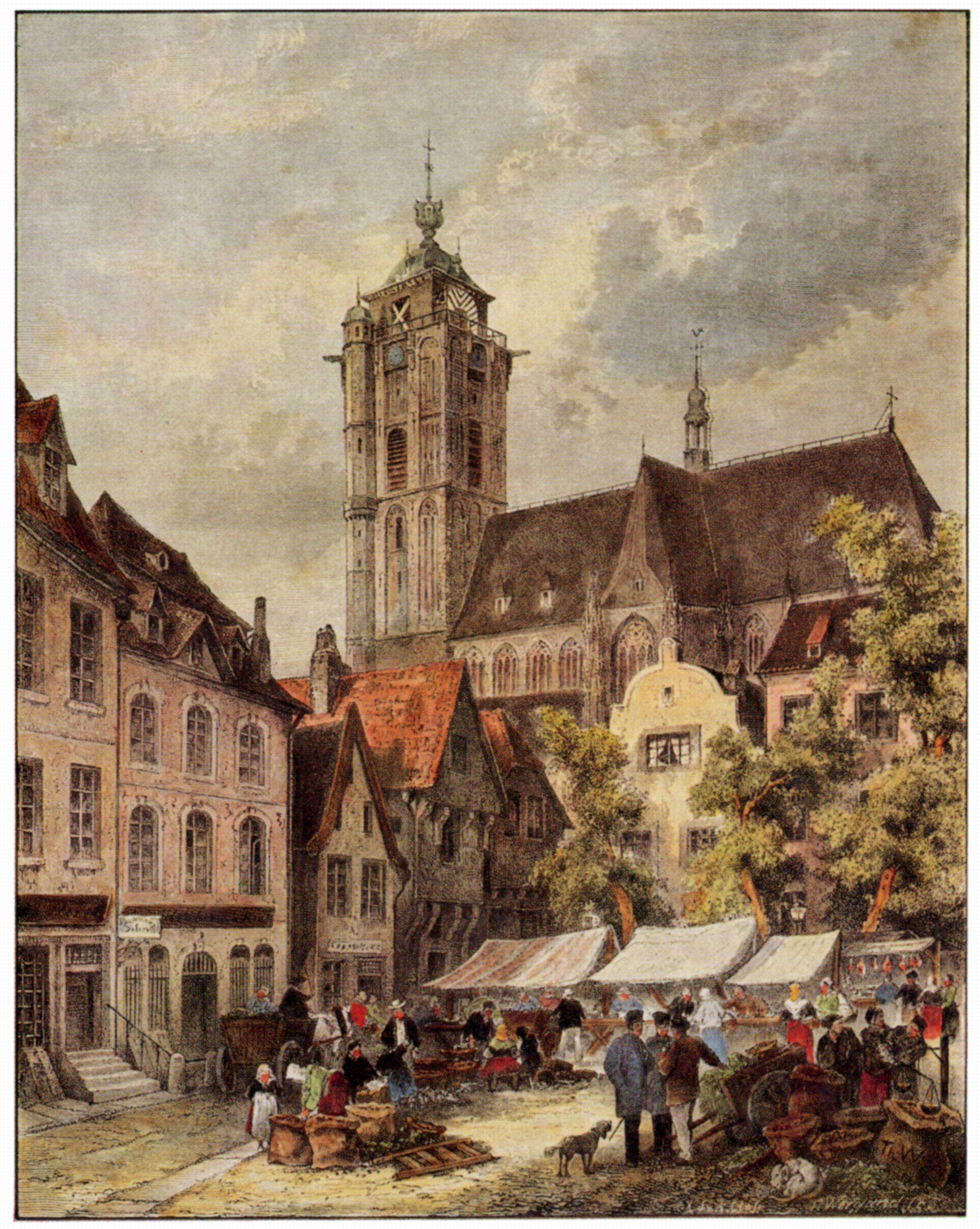 Weber Therese Duisburg Markt Auf Dem Burgplatz Mit