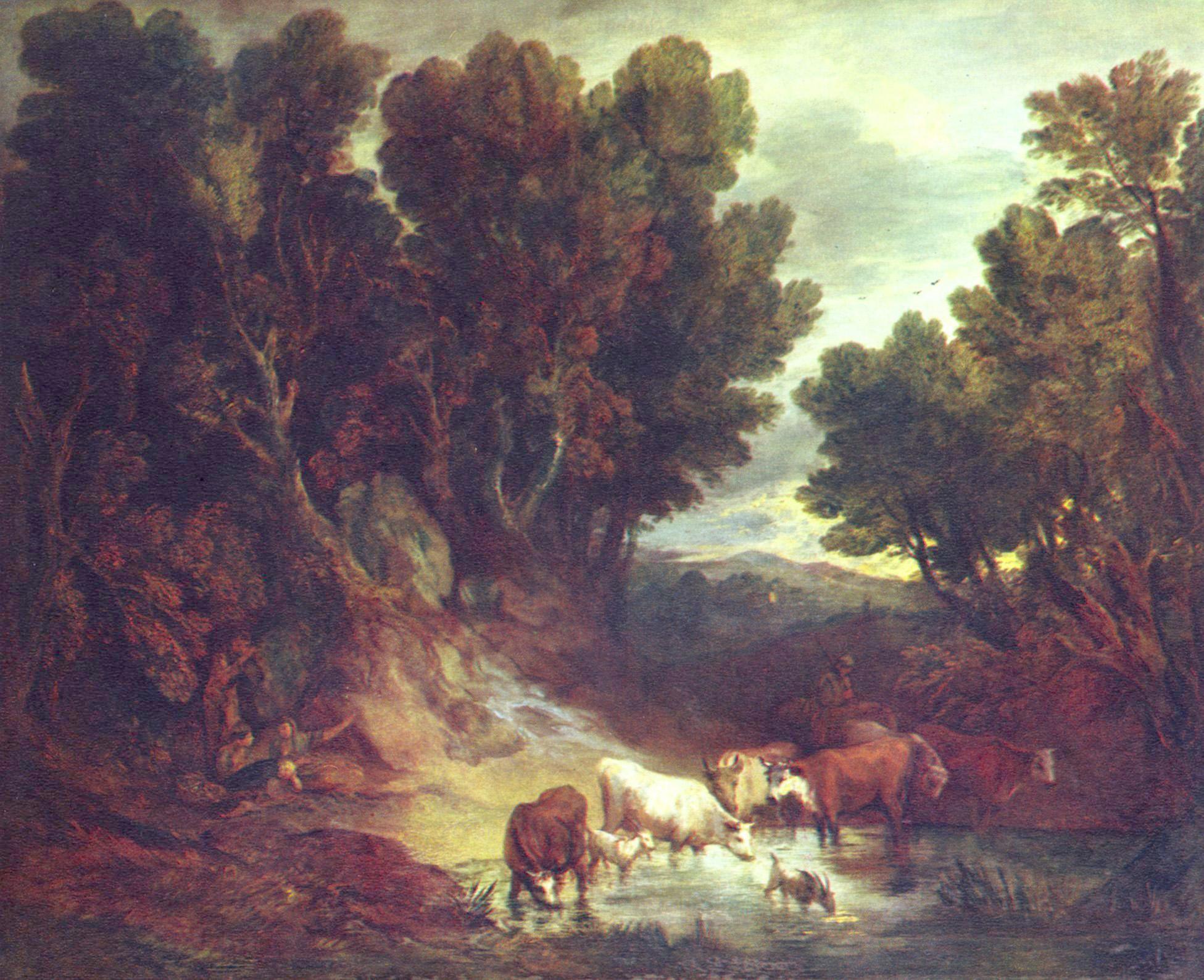Gainsborough, Thomas: Die Tränke - Zeno.org