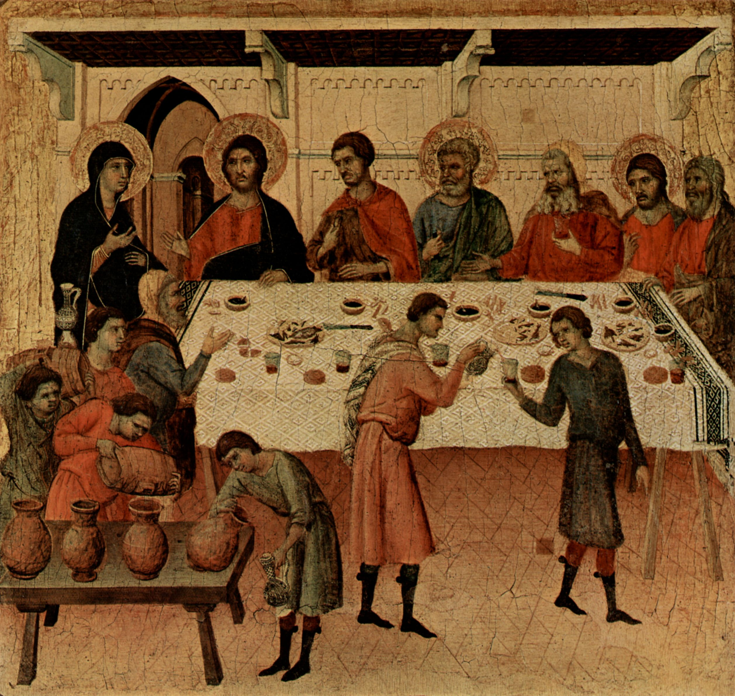 Duccio Di Buoninsegna Maesta Hochzeit Zu Kana Zeno Org