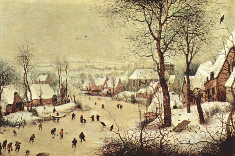 Bruegel d pieter winterlandschaft mit eisl ufern - Schilderij kooi d trap ...