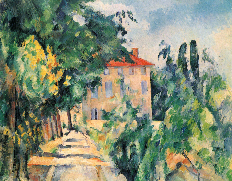 Cézanne, Paul: Haus Mit Rotem Dach