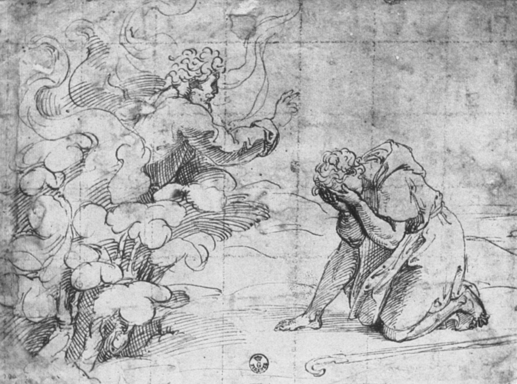 Penni, Giovanni Francesco: Gott erscheint Moses im brennenden ...