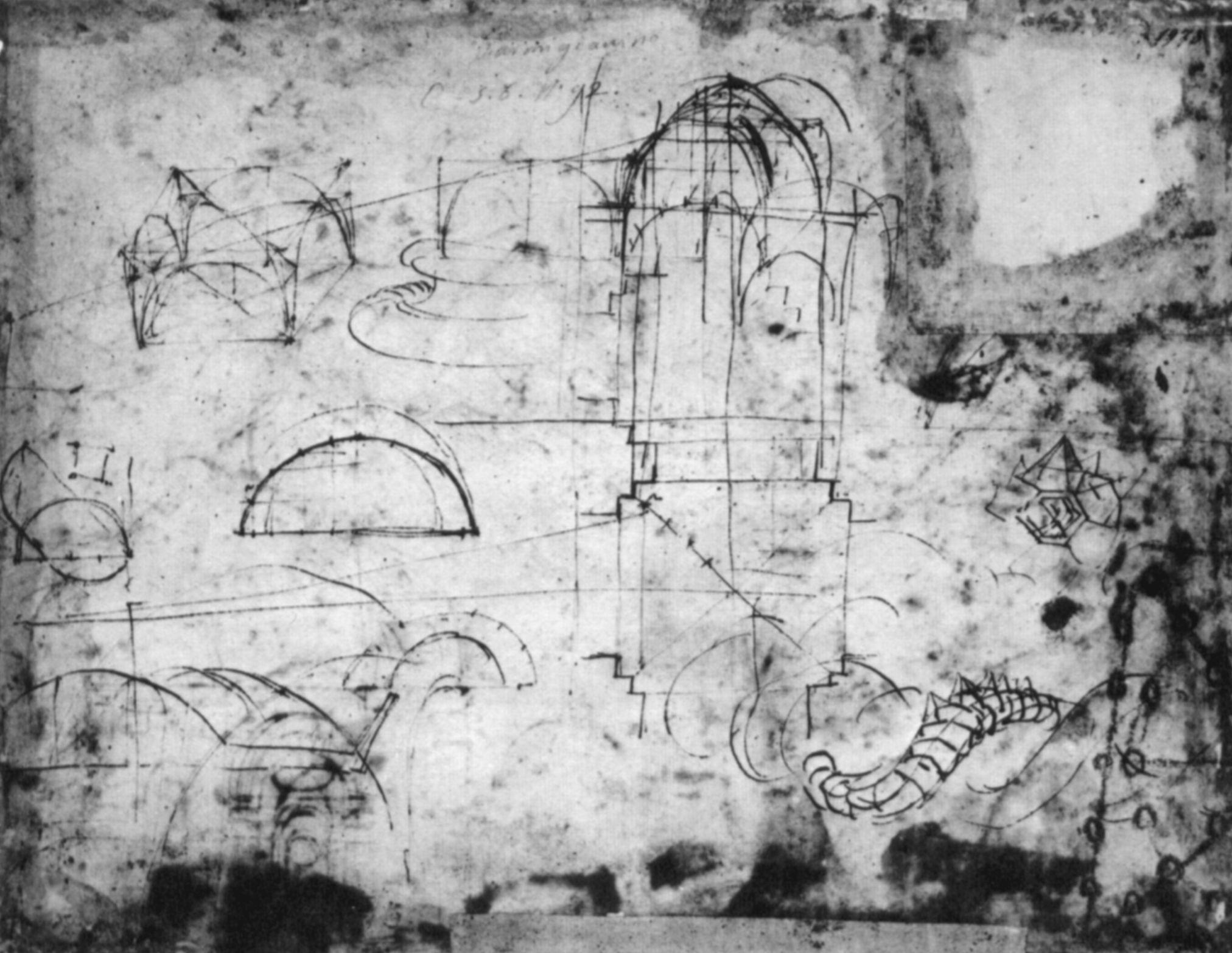 Raffael Architekturskizzen Zu St Peter In Rom