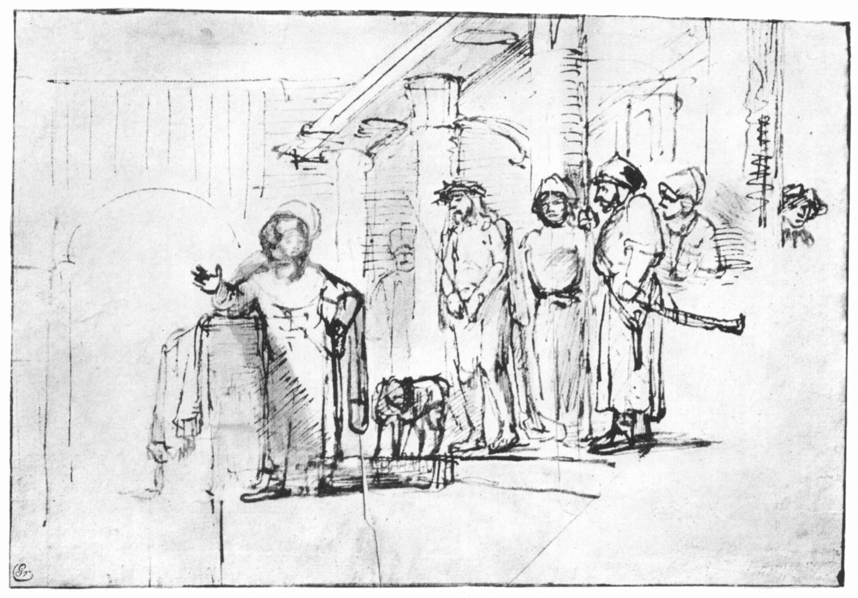 Rembrandt: Christus voor Pilatus