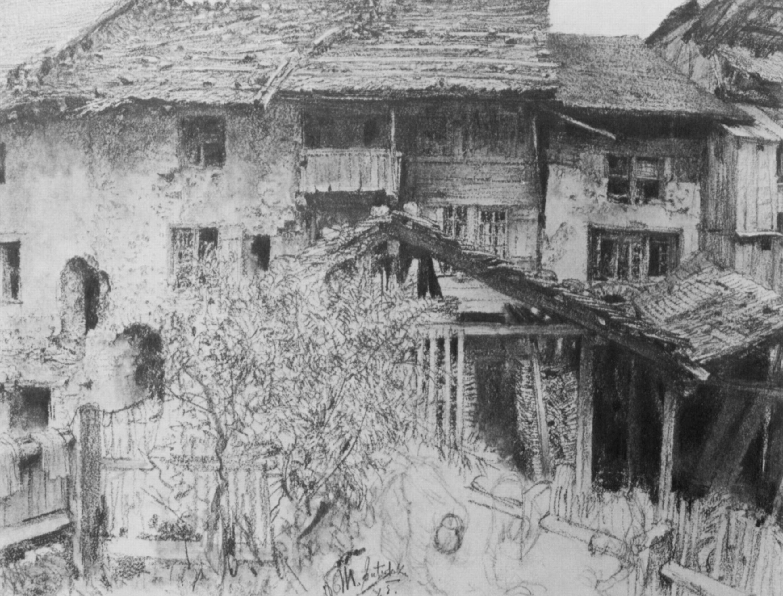 Häuser In menzel adolf friedrich erdmann alte häuser in interlaken
