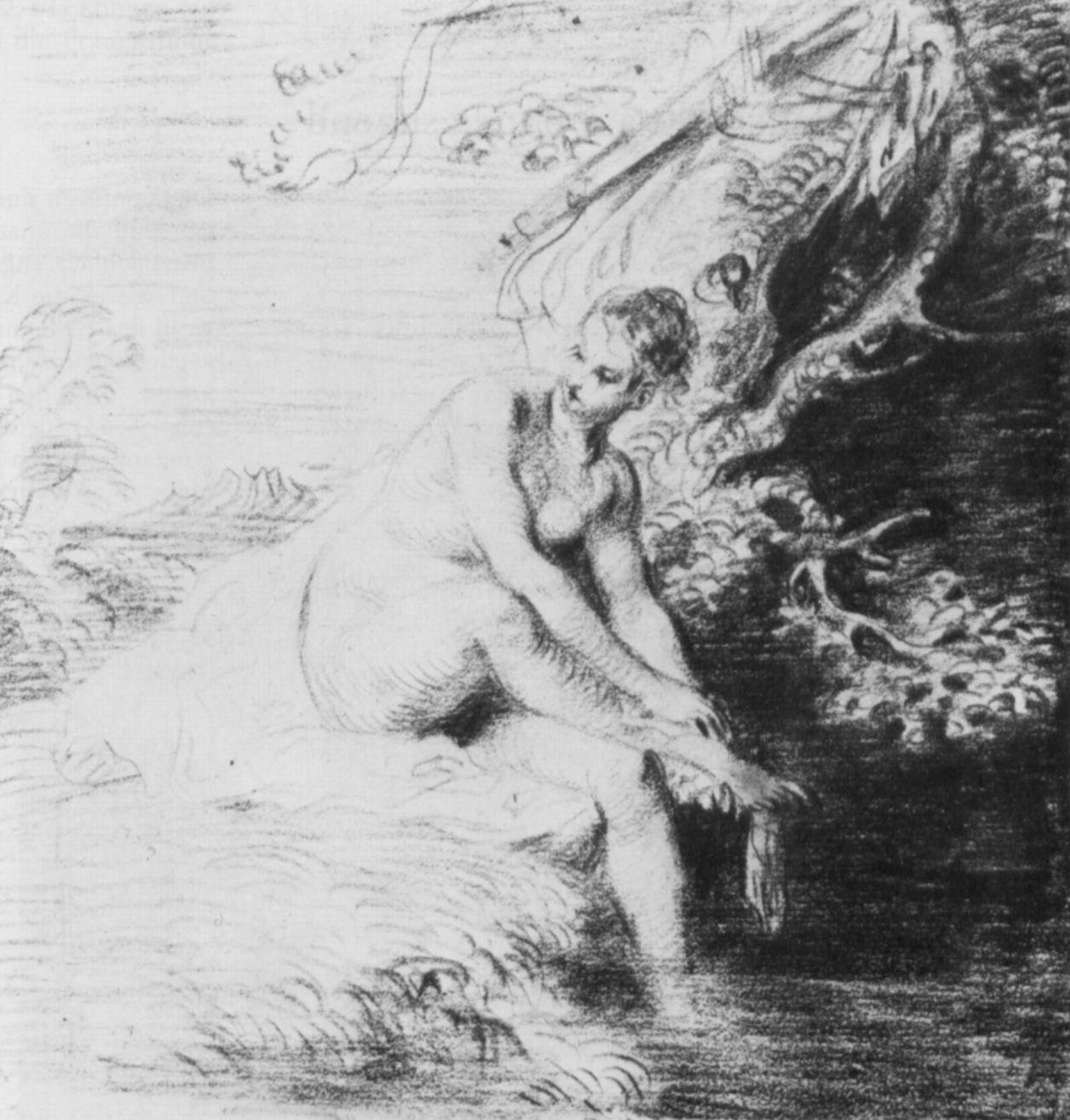 Watteau, Antoine: Bad der Diana - Zeno.org