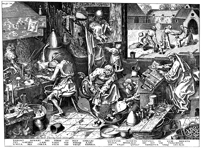 Bruegel d. Ä., Pieter: Der Alchimist [2] - Zeno.org