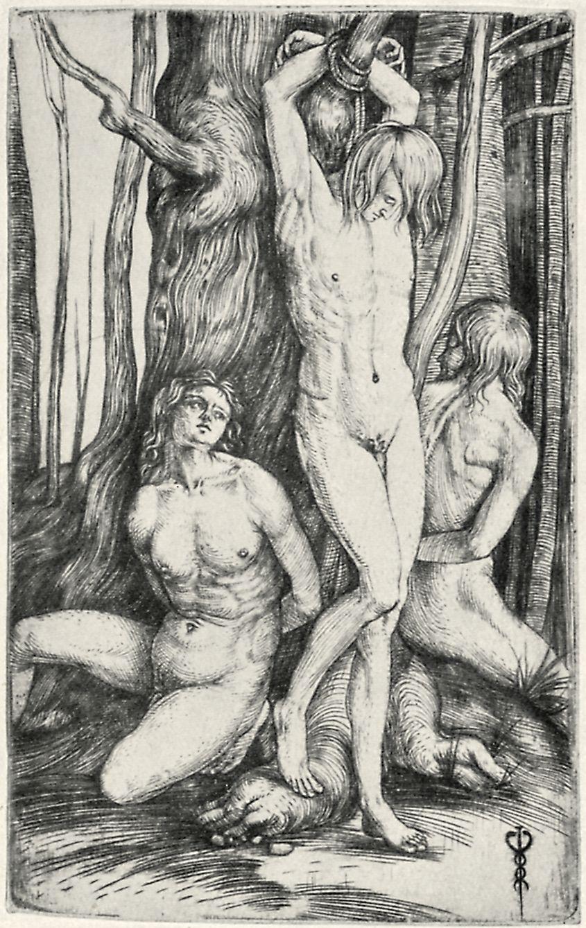 Kind wird am nackt gefesselt gefesselt