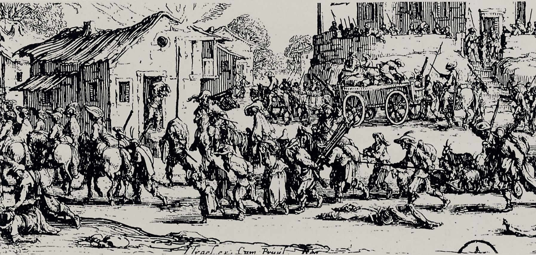 Callot, Jacques: Folge der »Grossen Schrecken des Krieges« [9 ...