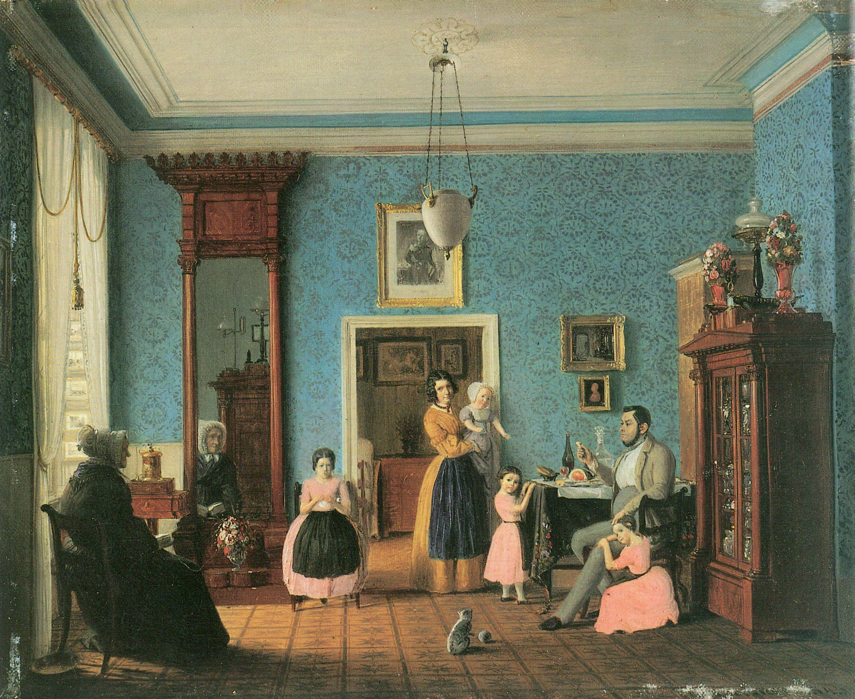 Gärtner, Eduard: Wohnzimmer des Schlossermeisters C.F.A. Hauschild ...