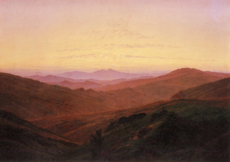 Friedrich, Caspar David: Riesengebirge (Vor Sonnenaufgang)