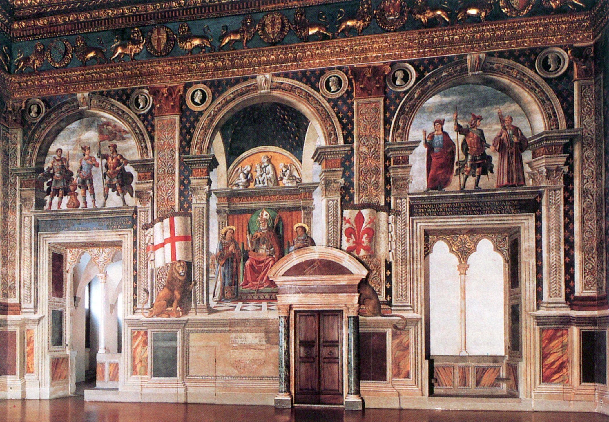 Assez Ghirlandaio, Domenico: Palazzo Vecchio: Die rechte Wand des  IR76