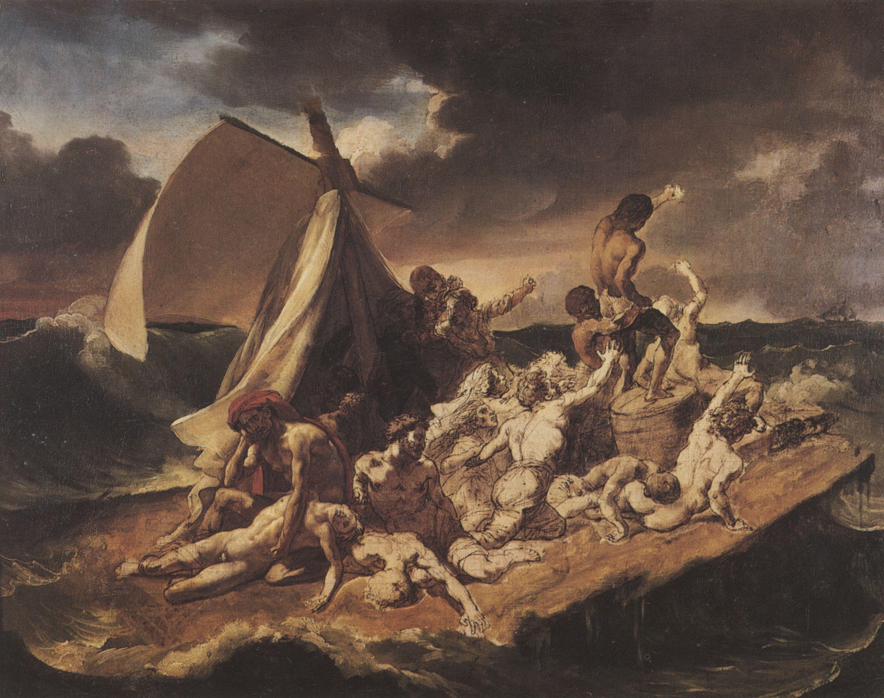 Géricault, Jean Louis Théodore: Floß der Medusa, Studie - Zeno.org