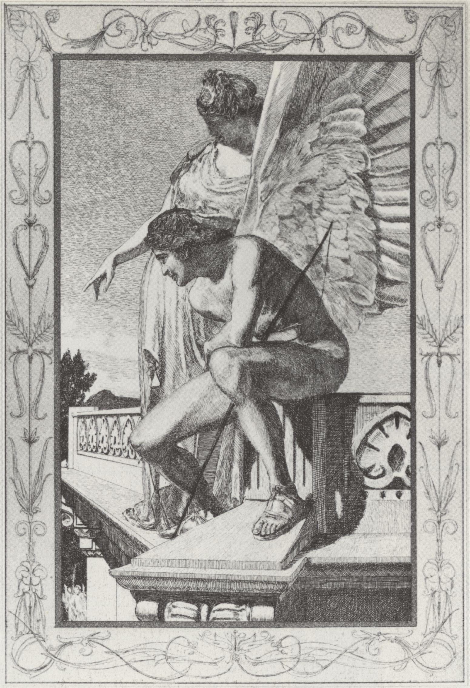 Klinger, Max: Opus V, »Amor und Psyche«, Die Jugend Amors