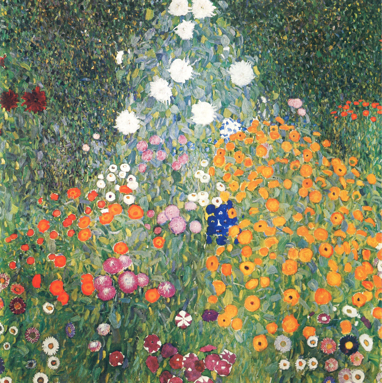 Blumengarten Bilder klimt gustav bauerngarten blumengarten zeno org