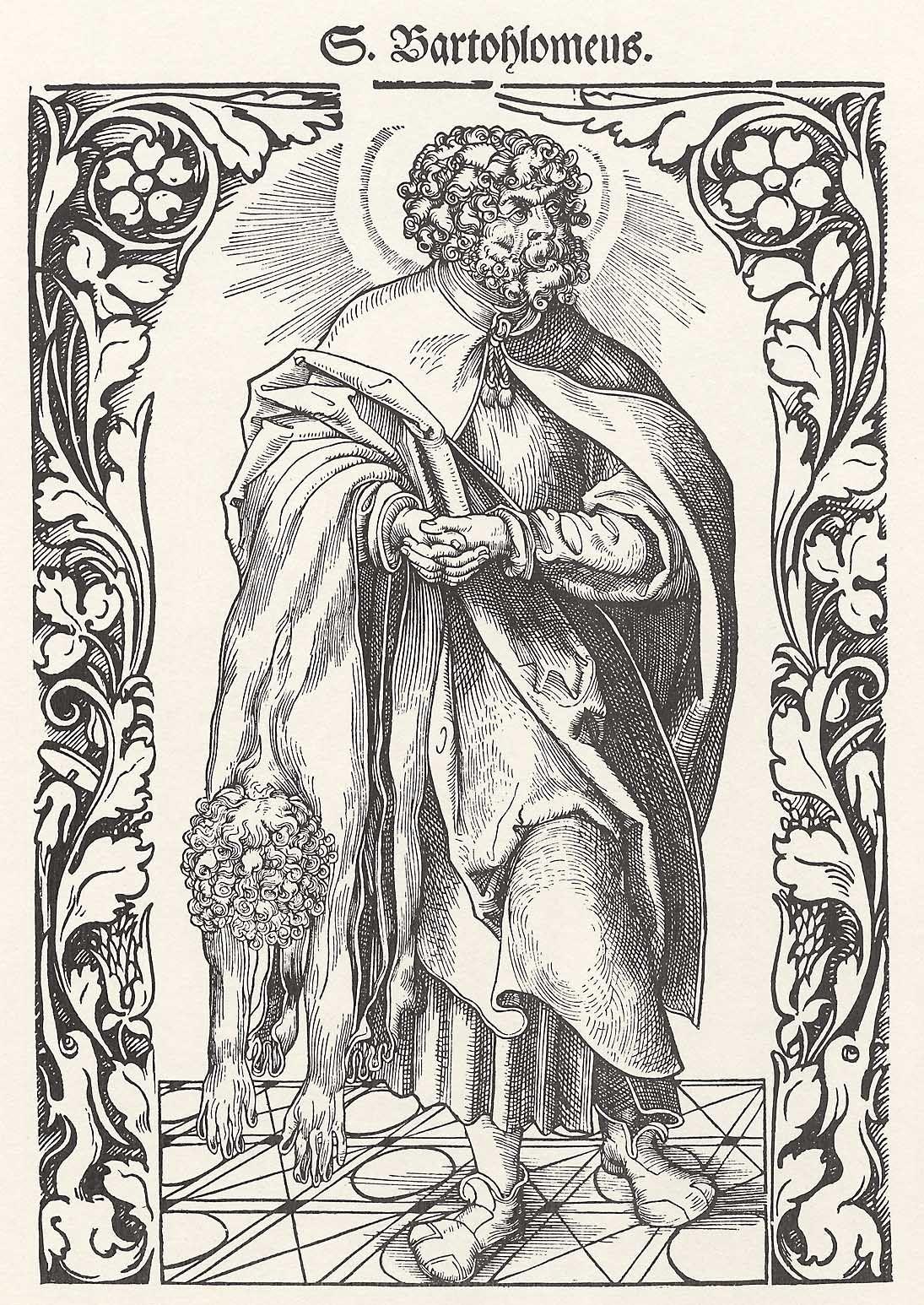 Weiditz, Hans: Hl. Bartholomäus in einem Ornamentrahmen - Zeno.org