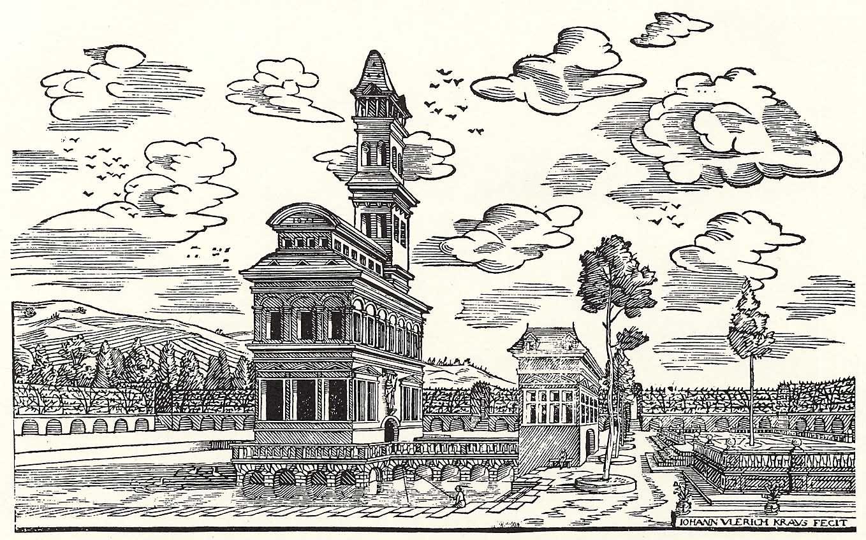Fesselnd Kraus, Johann Ulrich: Garten Mit Tempel