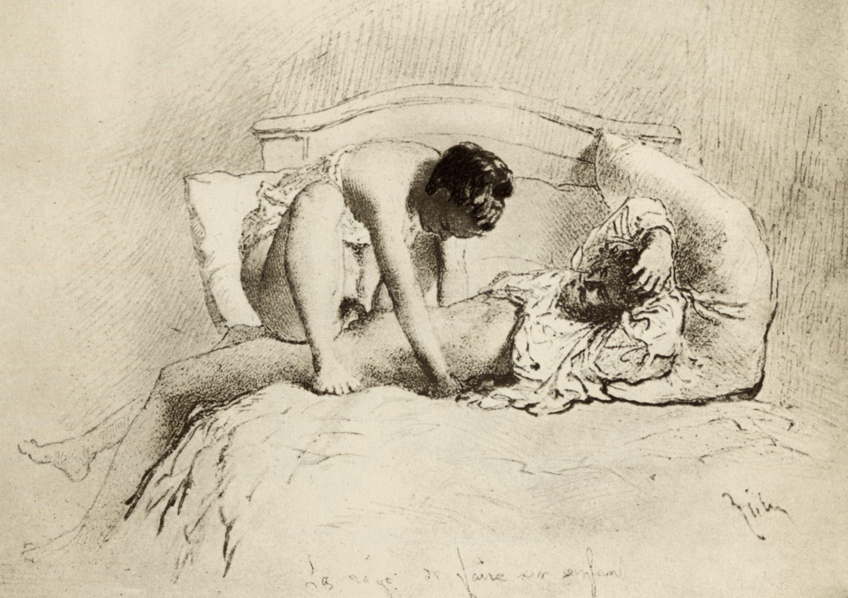 Рисованная эротика 19 века 4 фотография