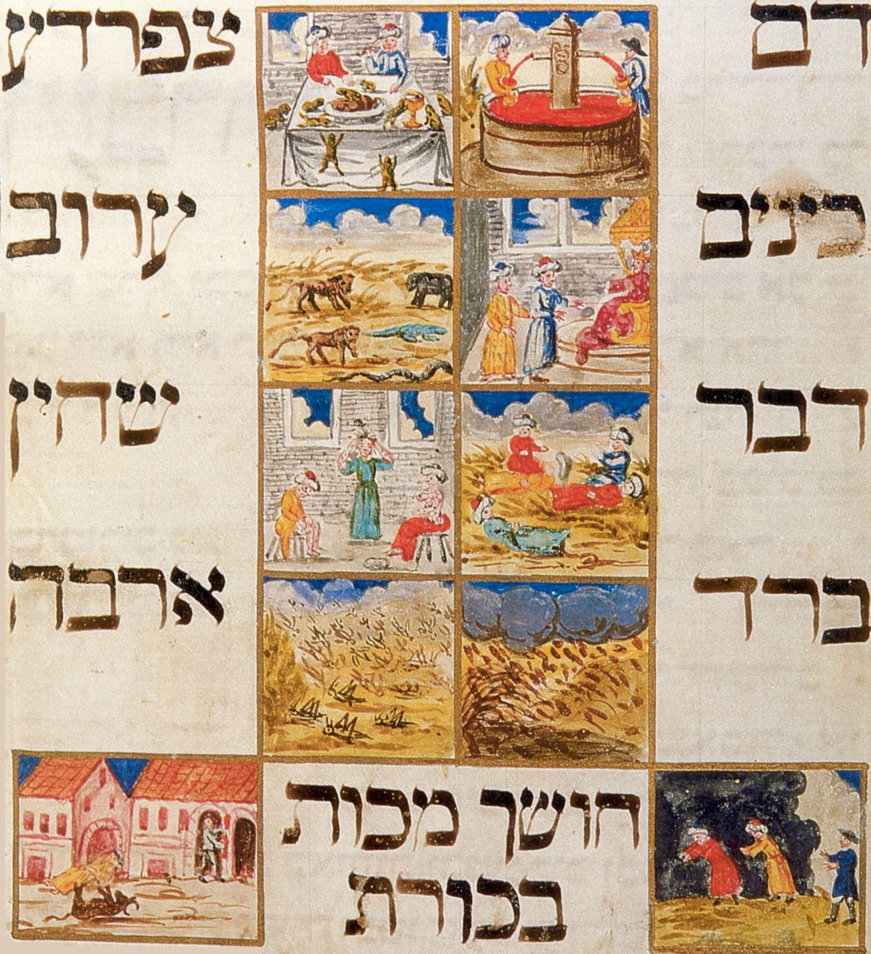 Tschechischer Maler um 1740 Die zehn Plagen  Zenoorg
