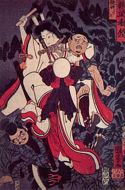 Utagawa kuniyoshi aus der serie spiegelbild der krieger unseres