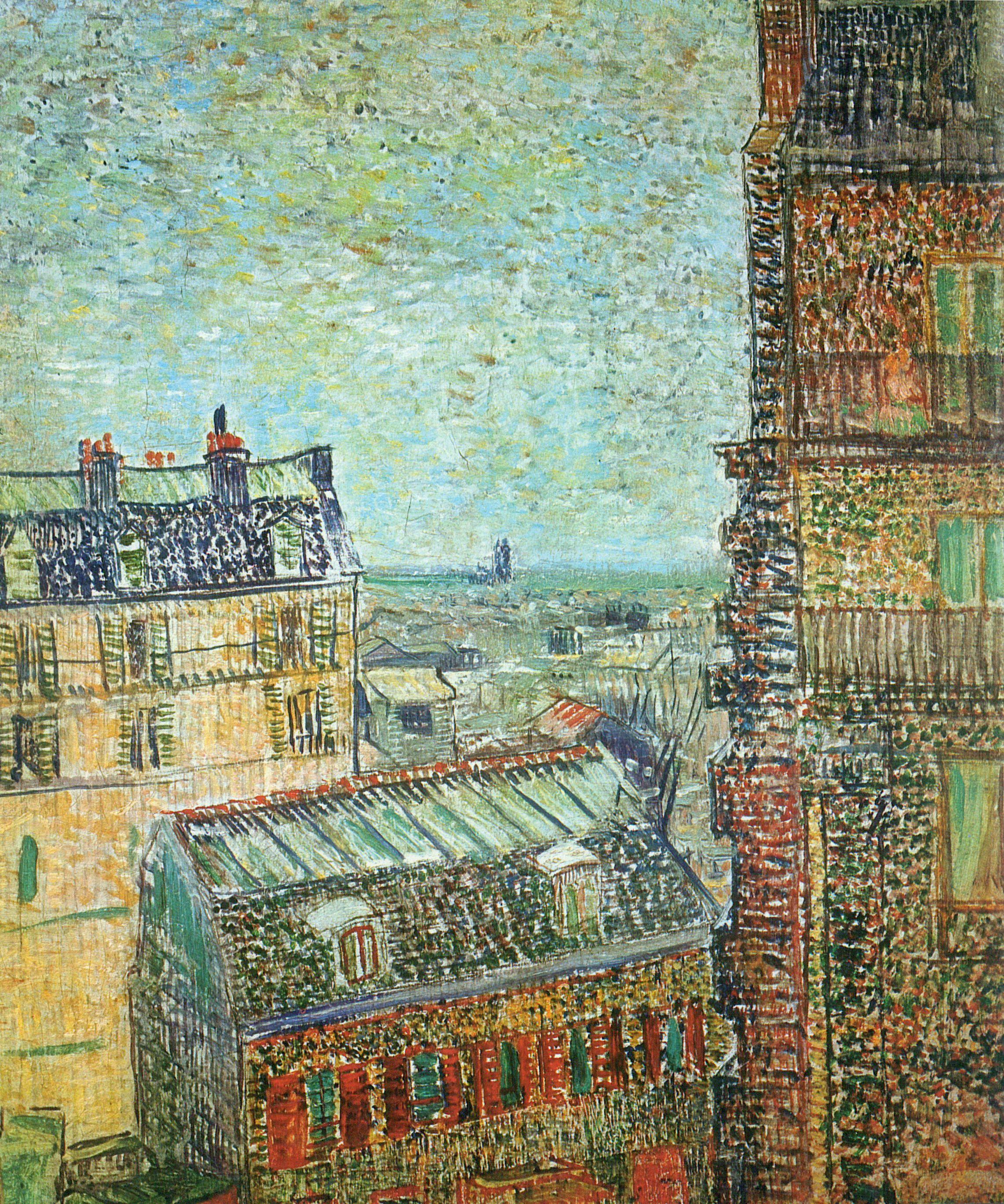 Gogh, Vincent Willem Van: Blick Auf Paris Aus Vincents Zimmer In Der Rue  Lepic