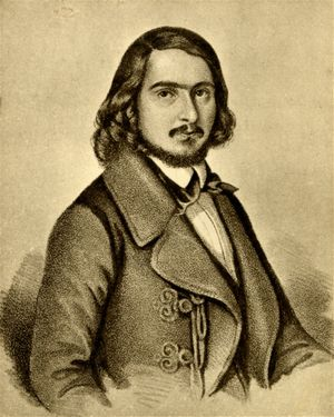 Georg Herwegh (Lithographie, 1841)