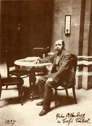Peter Altenberg im Café Central (Fotografie, 1907)
