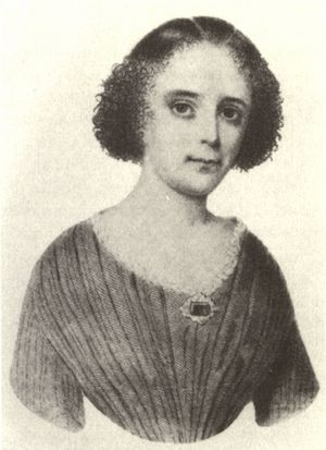 Louise Aston (Lithographie, um 1848)