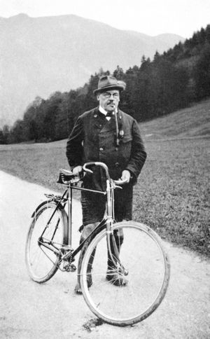 Ludwig Thoma in Wildbad Kreuth (Fotografie, 1913)