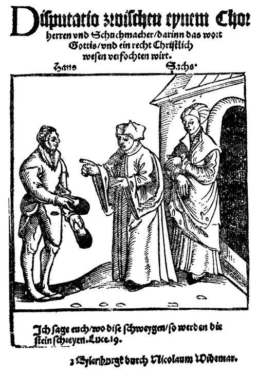 Sachs, Hans, Prosa-Dialoge, Prosadialoge, Der erste Dialog ...