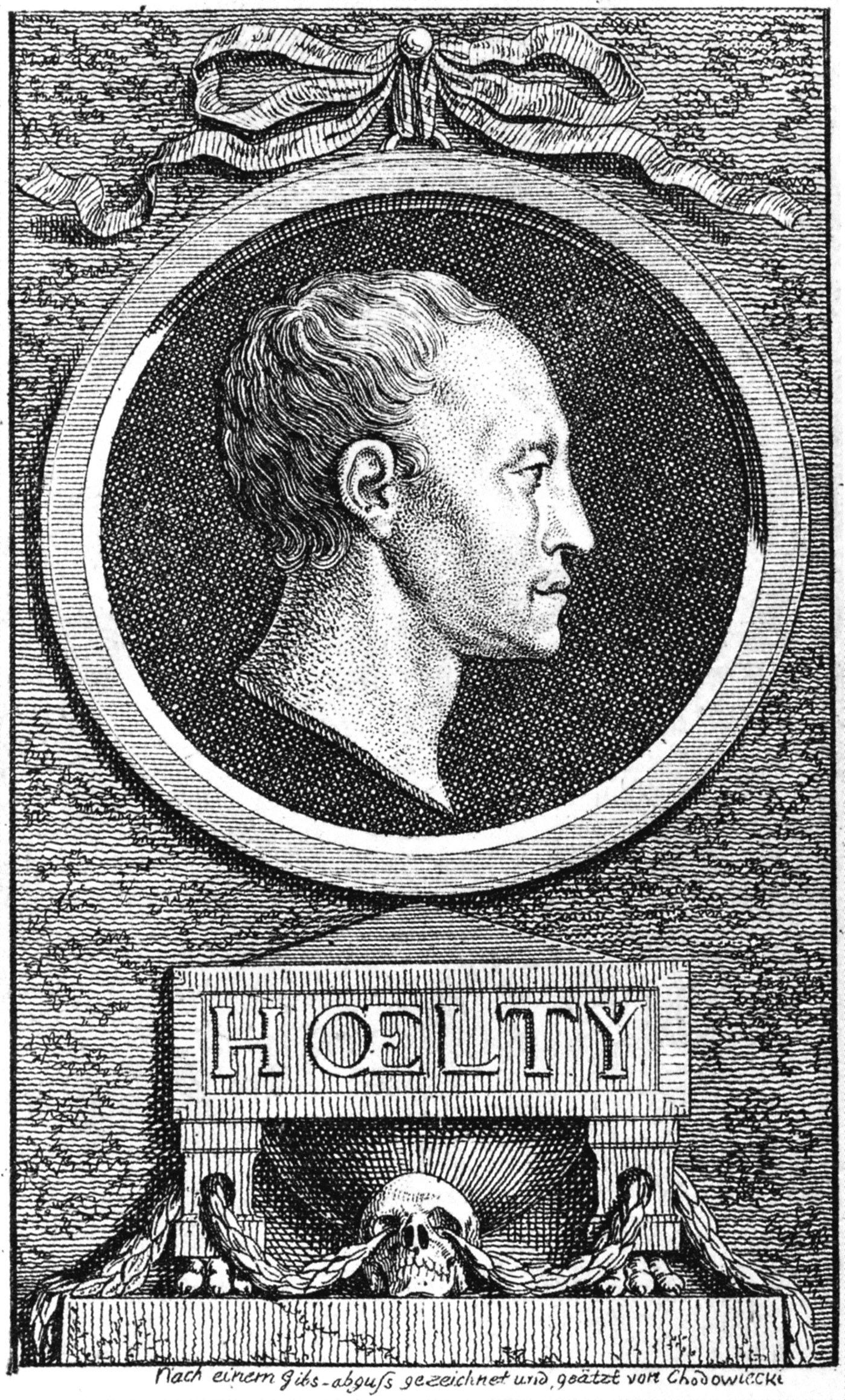 Ludwig Christoph Heinrich Hölty (Radierung von Daniel Chodowiecki, 1777)