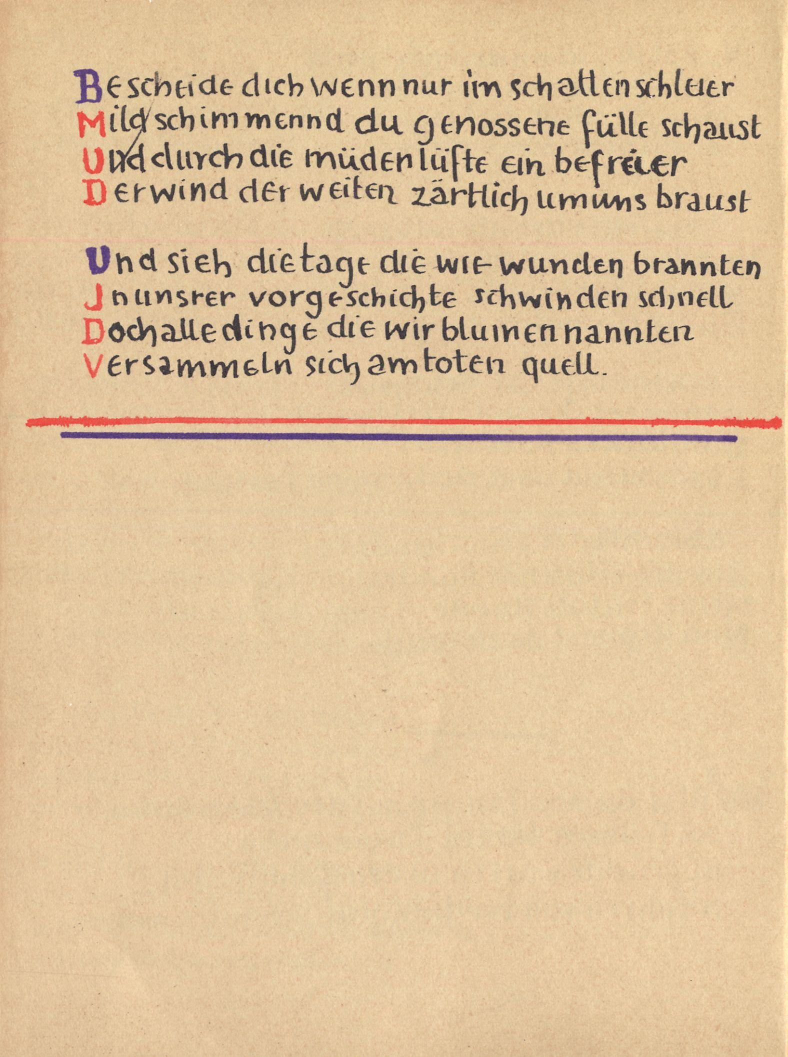 Stefan George Das Jahr Der Seele Faksimile Der Handschrift