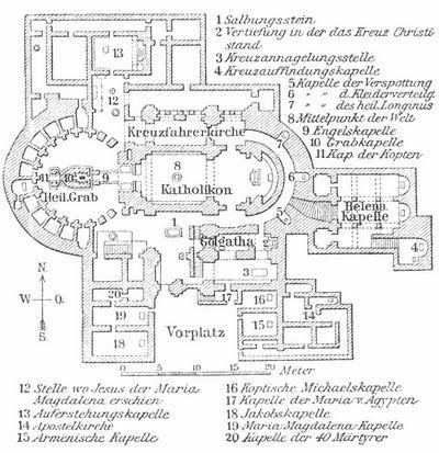 Grundriss der Grabeskirche