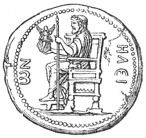 Zeus Des Pheidias Auf Dem Thronos Sitzend M 252 Nze Von Elis Zeno Org
