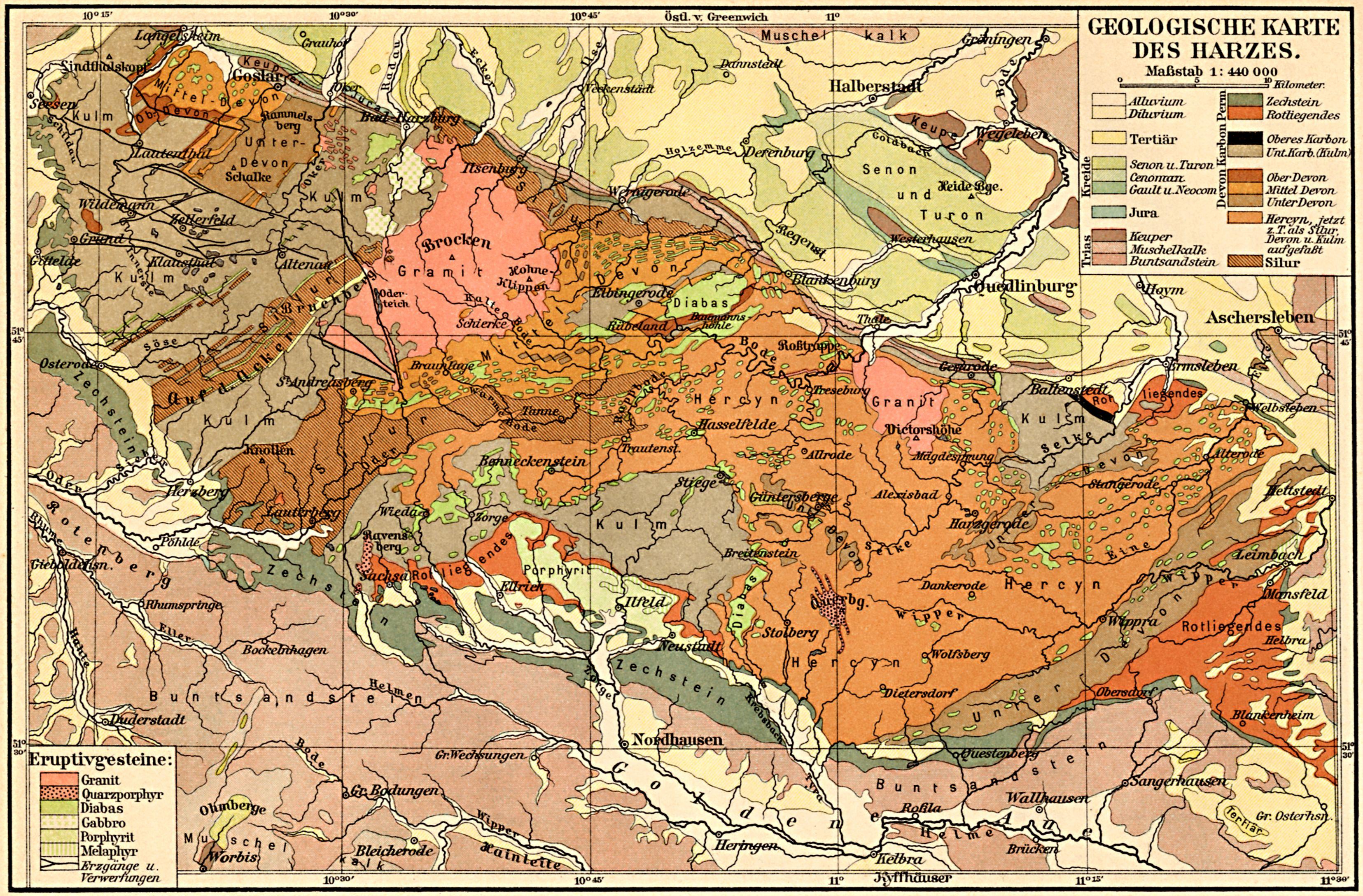 Karte Harz Zum Ausdrucken